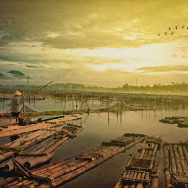 Morning by Bagoes A - Digital Art People ( landscape, morning, people )