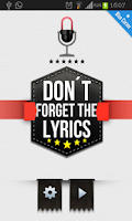 Screenshot of Don´t Forget the Lyrics