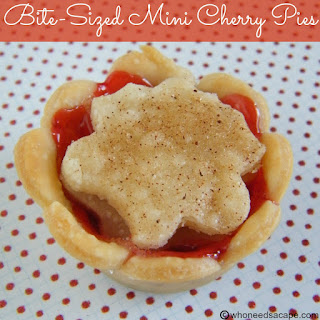 Bite-Sized Mini Cherry Pies