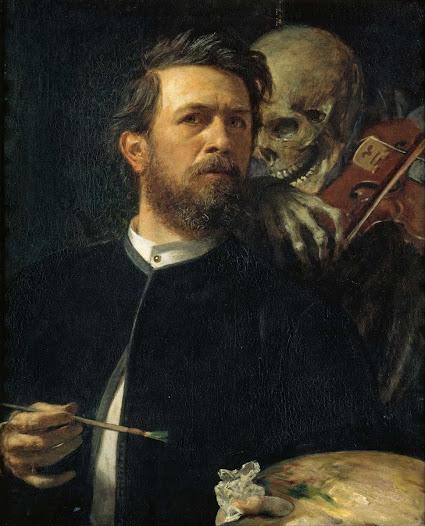 Bocklin Arnold, Autoritratto con la morte