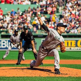Masahiro Tanaka at Fenway Park by Michael Last - Sports & Fitness Baseball