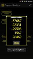 Screenshot of Random Numbers