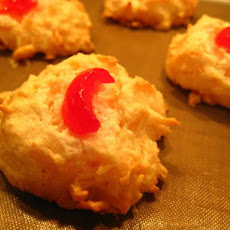 Coconut Macaroons With a Cherry Top
