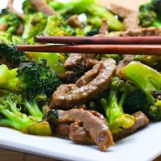Stir-Fried Beef and Broccoli with Ginger and Ponzu Sauce