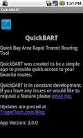 Screenshot of Quick BART