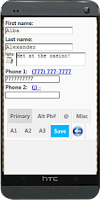Screenshot of Backup Contacts