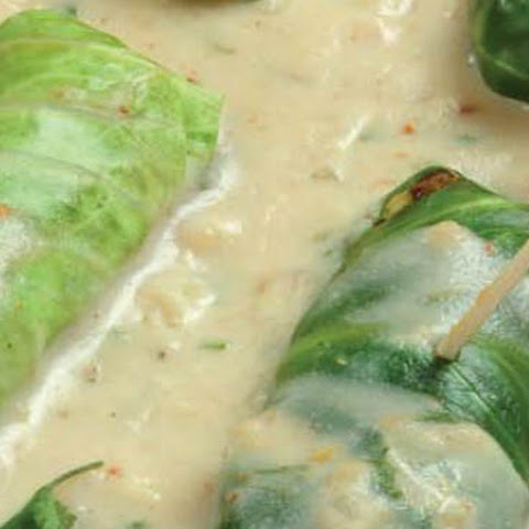 Cabbage Rolls in White Sauce