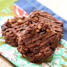 Flourless Double Chocolate Peanut Butter Cookies