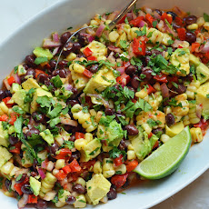 Black Bean & Corn Salad with Chipotle-Honey Vinaigrette