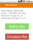 Screenshot of Ufone 3G Packages