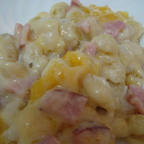 Ham and Cheesy Noodle Casserole
