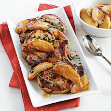 Brined Pork Chops with Apple Compote