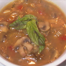 Soup of Two Mushrooms and  Barley