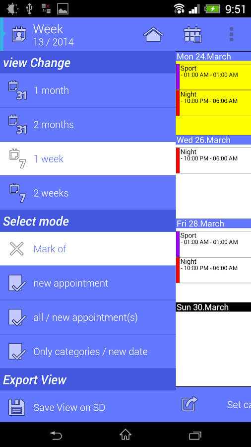 Work Calendar Screenshot 6