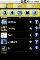 Screenshot of Animals Ringtones