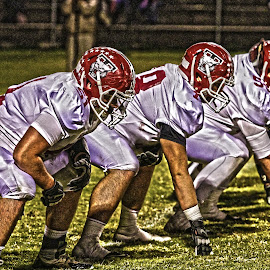 In The Trenches by LifeWorks Media - Sports & Fitness American and Canadian football ( tn, wildcats, ths, lineman, tullahoma )