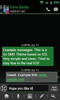 Screenshot of GO SMS THEME -Smooth ICS Green