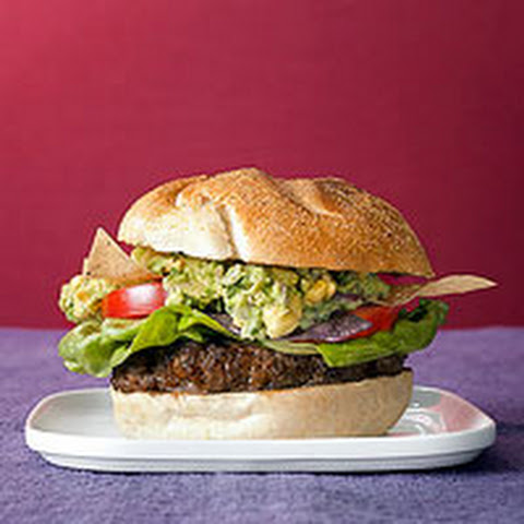 Chorizo Burgers with Sweet Corn Guacamole