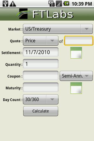 AndroidFISC Bond Calculator