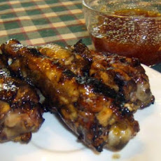 Grilled Spicy Apricot Chicken Wings