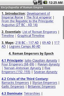 Encyclopedia of Roman Empire - screenshot