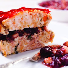 Brick-Shaped Turkey Meatloaf with Cranberry Charoset