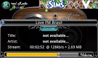 Screenshot of real Radio Brazil