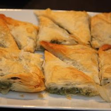 Spinach Filo Triangles