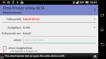 Screenshot of Elmű/Émász online