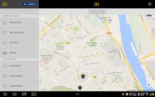 Screenshot of McDonald's Polska