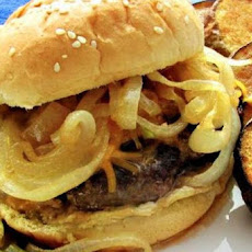 Beer Burgers With Beer Braised Onions
