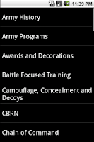 Screenshot of Army Board Study Guide