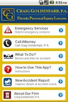 Screenshot of Accident App by Gold Law
