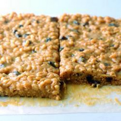Sticky Toffee Raisin And Rice Squares