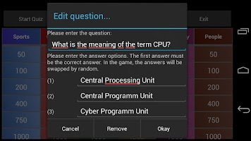 Screenshot of Quiz Creator free