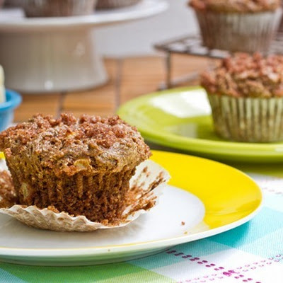 Cinnamon Streusel Apple Crunch Muffin (GF + Vegan)