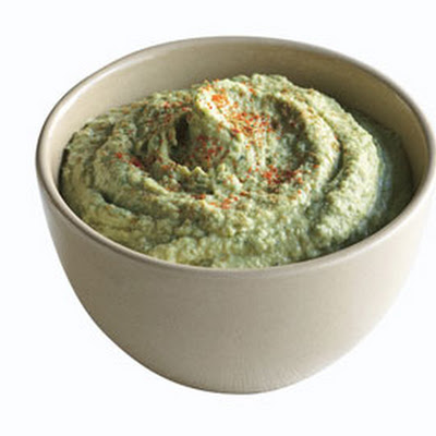 Parsley Hummus for Cauliflower Crudites