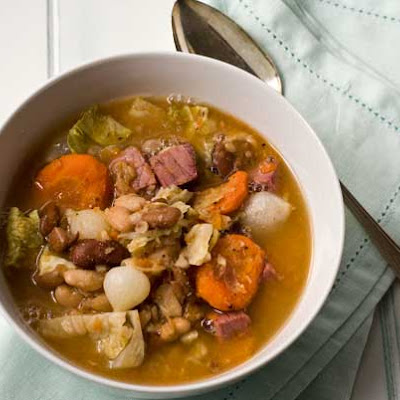 Gluten Free Corned Beef and Cabbage Bean Soup