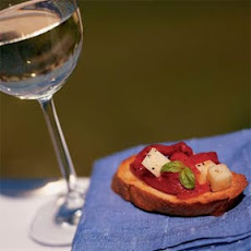 Roasted Red Pepper and Provolone Bruschetta