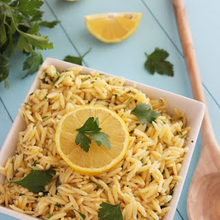 Lemon Butter Orzo with Parsley