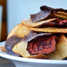 Red, White, and Blue Potato and Beet Chips