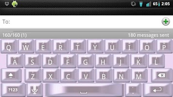 Screenshot of Girly Pearl Keyboard Skin