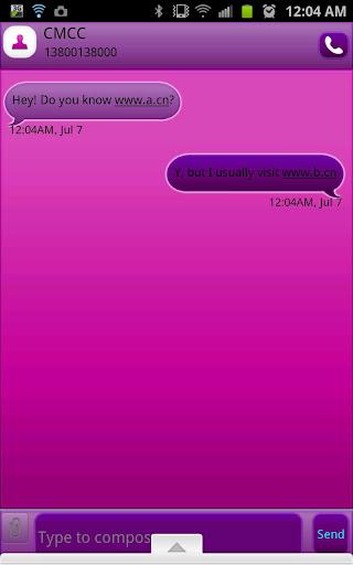 GO SMS - Bubble Purple
