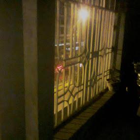 night view on a Birthday by Jayita Mallik - City,  Street & Park  Neighborhoods