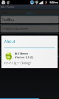 Screenshot of ICS Themed App