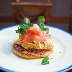 Glasgow Potato Scones With Best Scrambled Egg & Smoked Salmon