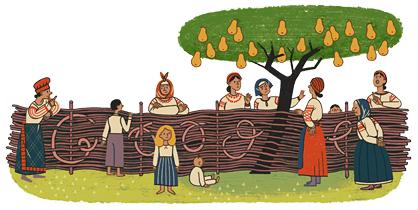 Google Doodle Ivan Nechuy-Levytsky's 175th Birthday