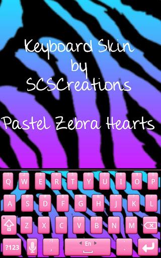 KB SKIN - Pastel Zebra Heart