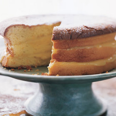 Meyer Lemon Cake with Lavender Cream