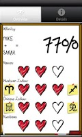 Screenshot of Love %: Love Calculator